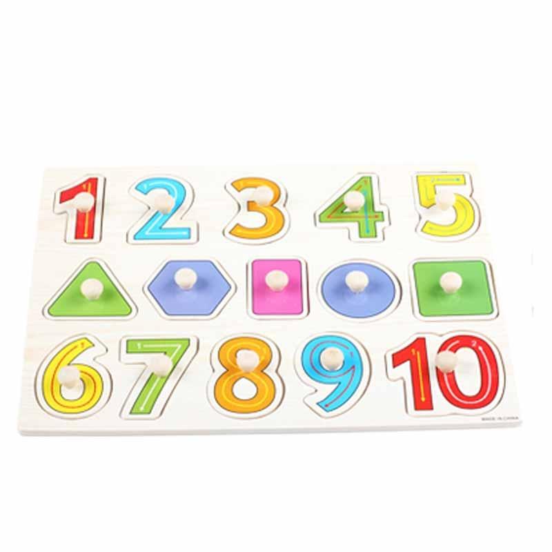 儿童玩具婴幼儿手抓拼图字母数字水果几何拼