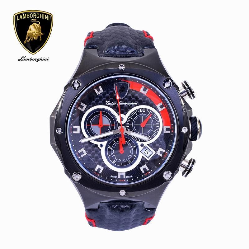兰博基尼tonino lamborghini品牌手表 瑞士产运动腕表碳纤维表带4611