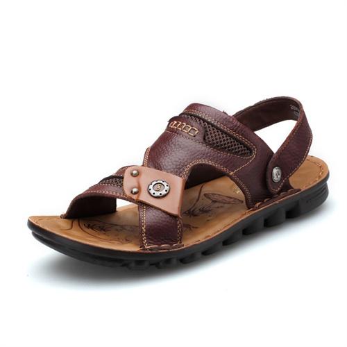 Plo-cart保罗盖帝 夏季网面时尚透气沙滩凉鞋 男鞋