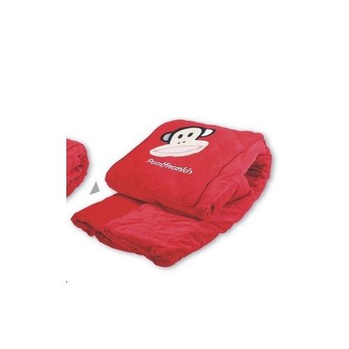 新款大嘴猴抱枕被 红色刺绣图案空调被 单个装