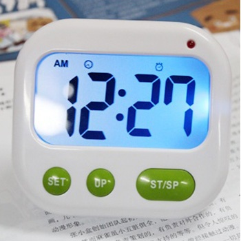 吉满 无声震动电子钟 振动闹钟 创意 静音夜光学生钟 定时器功能_背光