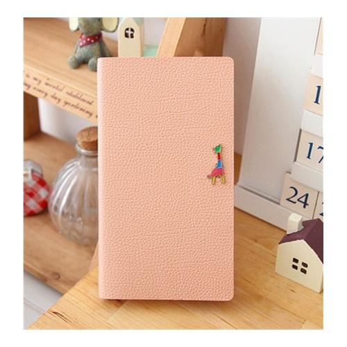 笔记本 韩版文具 长颈鹿可爱记事本 皮面彩页横格日记