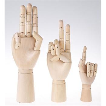 12英寸男木手模型 木头手