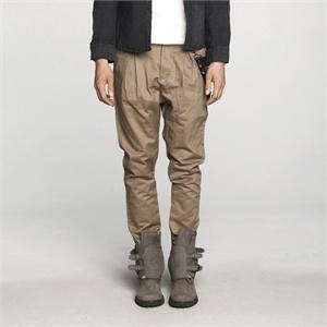 【kon】2011新款男士宽松休闲裤圆裆铆钉裤兜装饰宽松英伦男裤