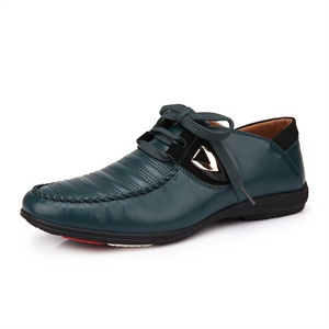 Pubgo男士休闲皮鞋 2014新款时尚商务男鞋 系带真皮日常休闲鞋M10364