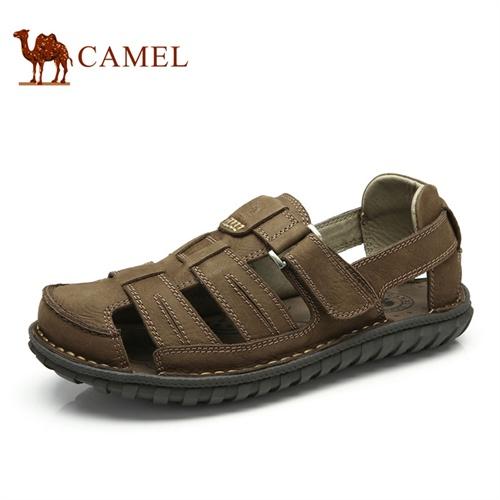 【2014新品】camel 骆驼男凉鞋 新款正品包头休闲鞋 夏季沙滩鞋防滑透气凉鞋