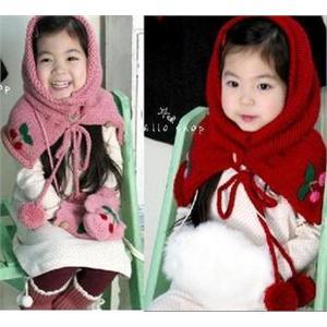 用型+手套二件套儿童围巾