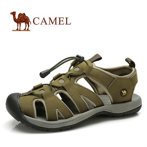 CAMEL骆驼 男凉鞋 磨砂皮日常休闲男士凉鞋 包头男鞋 沙滩鞋82036614