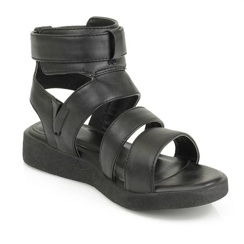 帮魔术贴中性简约凉鞋热风同款平跟平底女鞋子学生鞋