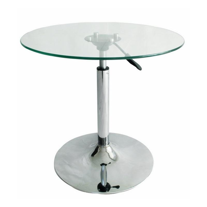 新款升降茶几 咖啡桌 玻璃圆桌子 会议桌 休闲桌 玻璃洽谈桌