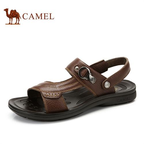 Camel 骆驼 日常休闲 防滑吸汗 透气沙滩鞋 休闲舒适男凉鞋