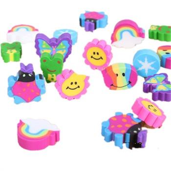 一正文具 彩虹动物阳光橡皮 25枚可爱动物橡皮擦 迷你橡皮 1333-1