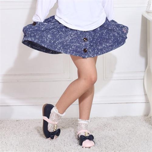 可可鸭童装女童2013夏装新款可爱俏皮牛仔裙百搭短裙61107