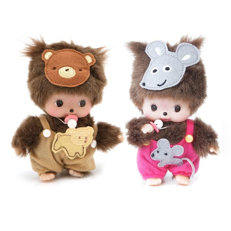 香港童话蒙奇奇15cm 幼儿版小熊小老鼠 经典生日礼物 礼品一对