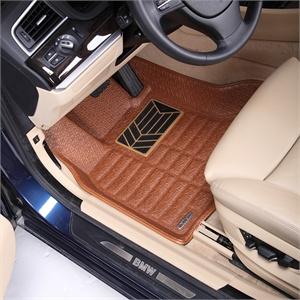 维客泰美品牌 奔驰C级汽车脚垫 奔驰原厂脚垫 带卡扣和原厂车标灰高清图片