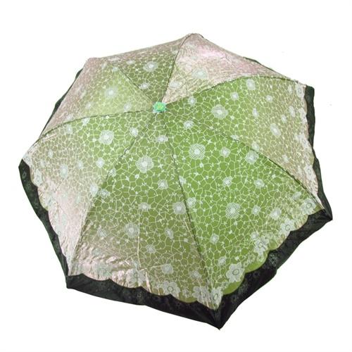 折轻巧防晒防紫外线遮阳伞变色闪光布太阳伞雨伞33101e玉枝冰花_绿色