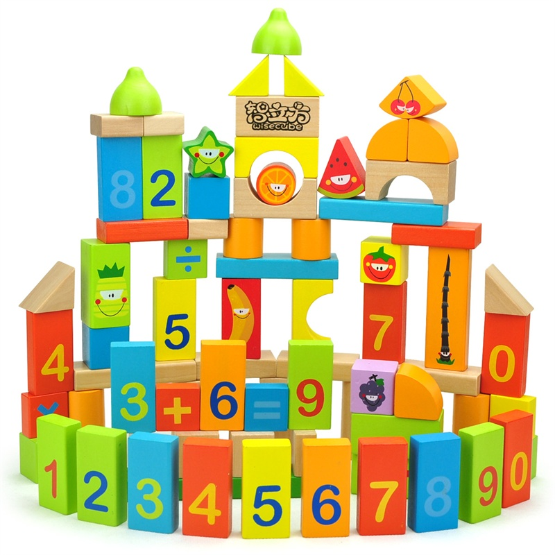 游戏益智积木趣味拼搭宝宝数字智力积木玩具