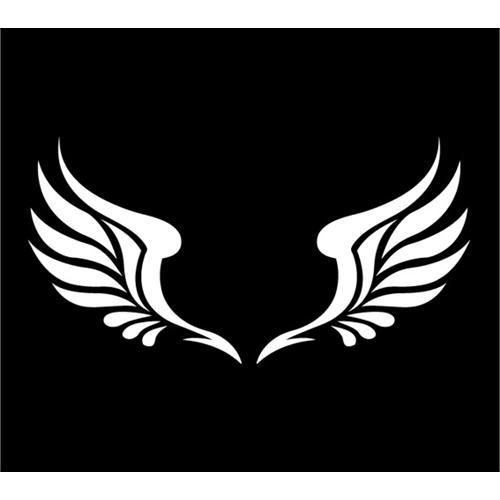 反光贴 翅膀图腾车贴 反光天使翅膀贴纸