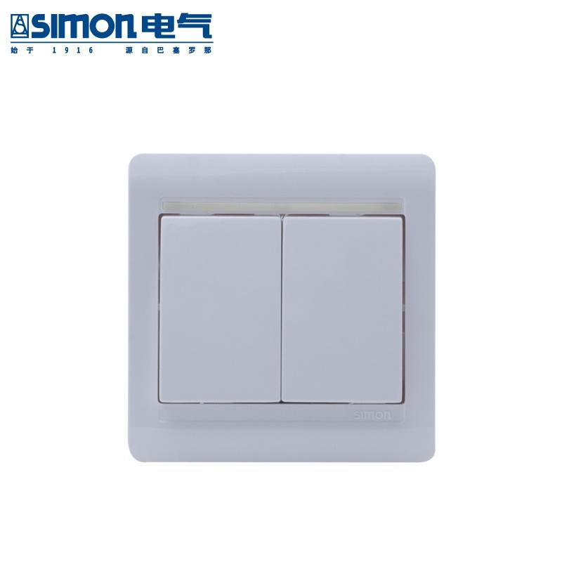 西蒙开关插座面板58系列单开单控开关s51011by