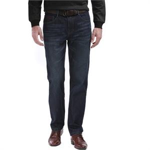 柒牌男装2014秋装上市男士商务时尚 无褶牛仔裤 E99S863D358