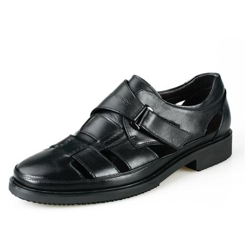 Plo-cart 保罗盖帝时尚舒适系列男士凉鞋6702033(黑色)/6702035(棕色)