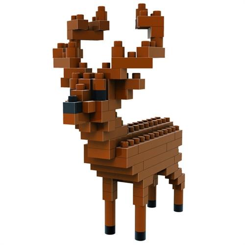 loz 俐智 动物公仔系列(小盒) 鹿 乐高式钻石颗粒创意拼装积木 9322