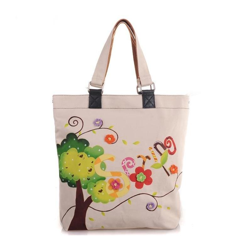 购物袋手绘图案