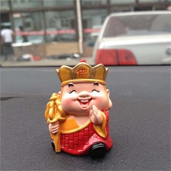 汽车公仔摆件 q版笑眼小神仙摆饰 济公哪吒 地藏王菩萨摆件小号_地藏