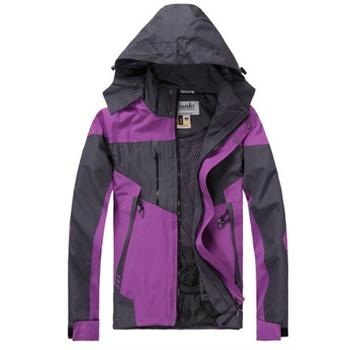 女式冲锋衣单衣_户外运动服装 2012新款户外女装女士冲锋衣防风外套_紫色,xl