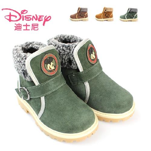 2012新款冬款正品迪士尼童鞋男童雪地靴儿童靴子可爱卡通26-34_s76071