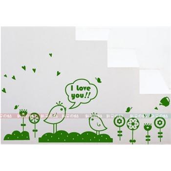 小可爱 新饰线墙贴 走廊楼梯墙壁贴纸韩国客厅背景墙壁纸田园