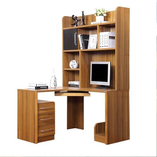 派森家具 简约进口实木电脑桌书架组合/学习书桌 板木