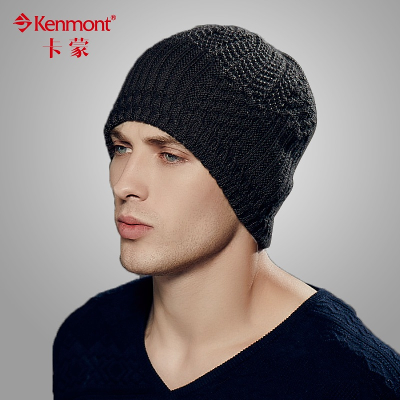 卡蒙老年中年男士毛线帽子冬天帽子针织帽