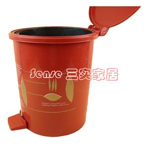 [e34]大号 带内胆◆脚踏式◆自动垃圾桶/废纸篓