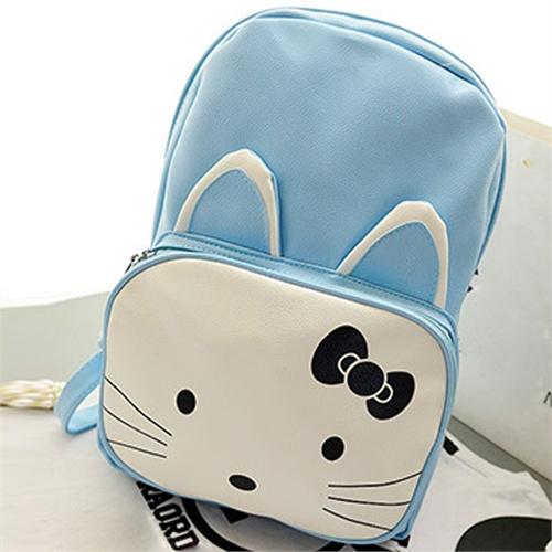 jaya 2014新款时尚双肩包韩版卡通双肩包学生包可爱双肩双背猫咪b2043