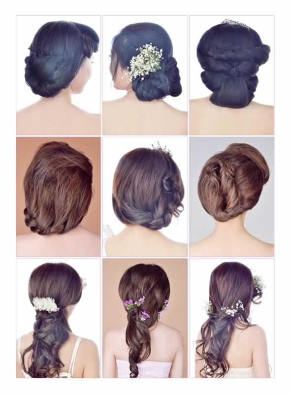 时尚/美妆 彩妆/美发/美甲  《当日新娘发型设计实例教程》讲解了婚礼图片