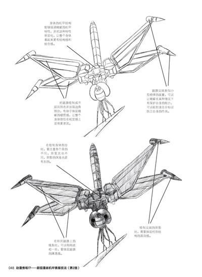 蜻蜓手绘身体结构图片大全