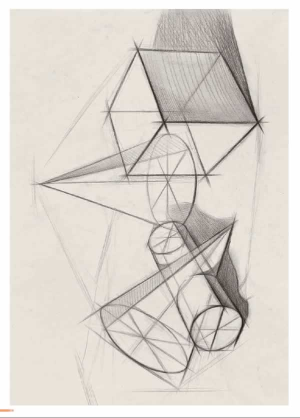 速成教案1 几何形体 素描几何体图片