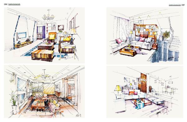 【rt4】完全绘本--零基础室内手绘快题表现 李待宾,孙云娟 湖北美术出