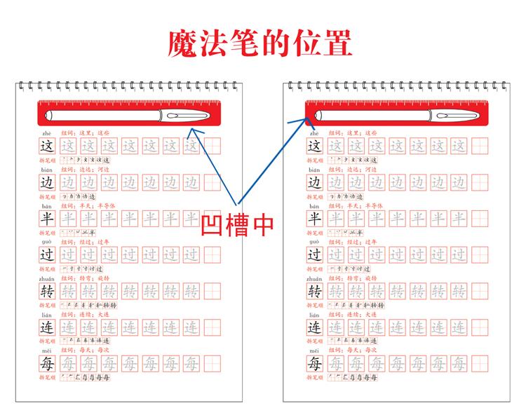 小学生多功能练字字帖一年级(上)(赠品魔法笔见书内凹槽内)图片