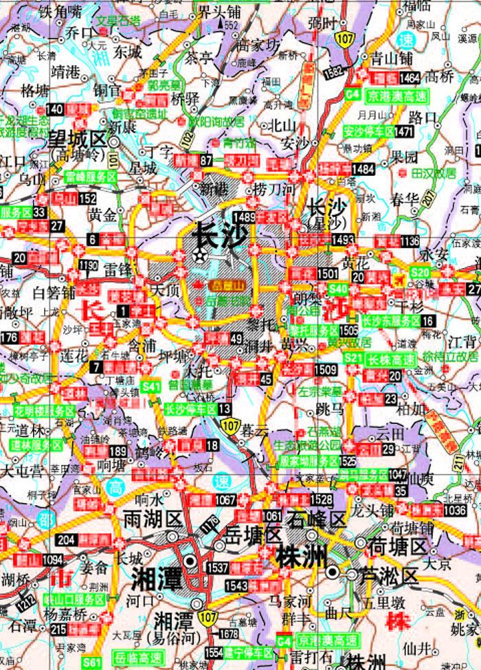 2013中国公路里程地图分册系列:湖南及周边省区公路里程地图册?