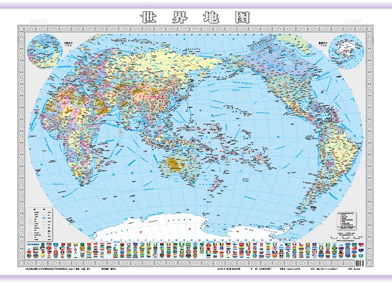 《世界地图(双全开)》成品尺寸为1000×1400mm.