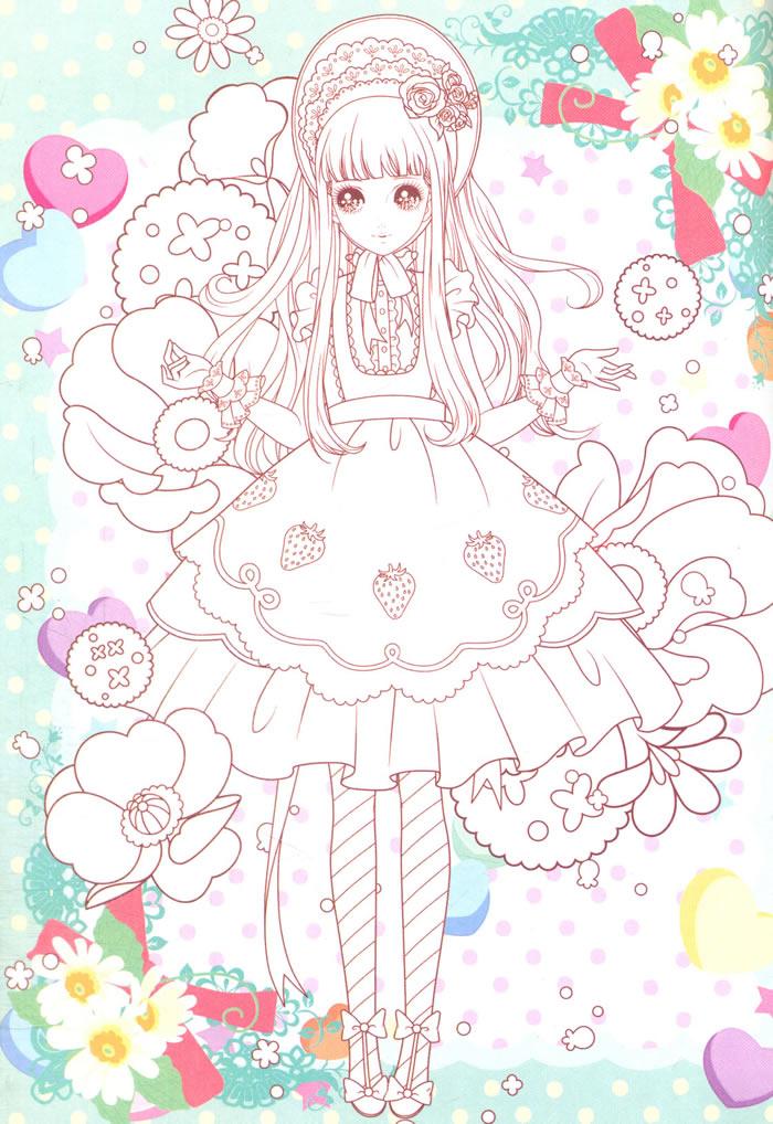 可爱公主卡通素描