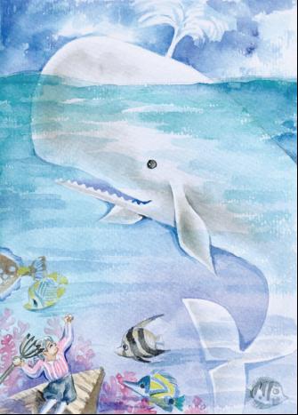 小鲸鱼可爱新年