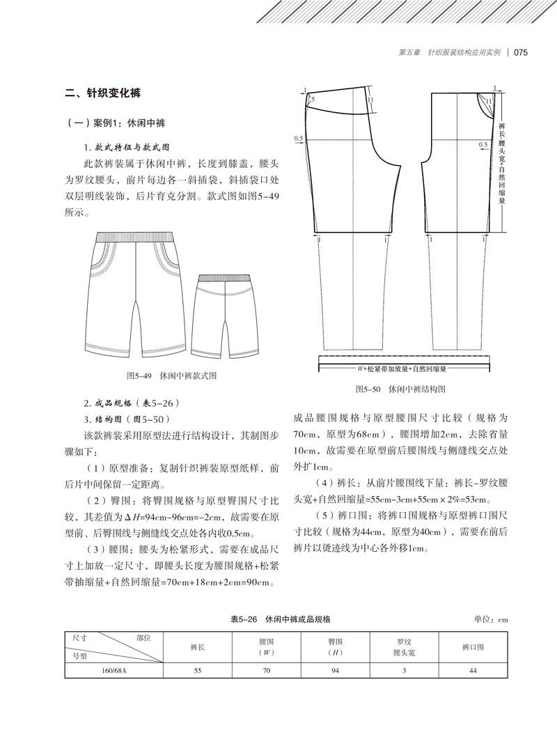 结构图(图5-28)      该款裙装采用原型法进行结构设计,其制图步骤如