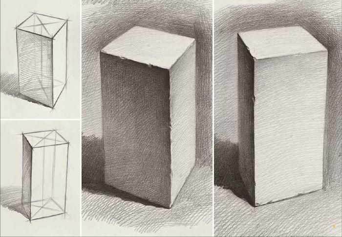 敲门砖美术系列 名师联盟 几何形体2 素描石膏几何形体结构练习