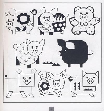 自制手繪賀卡動物