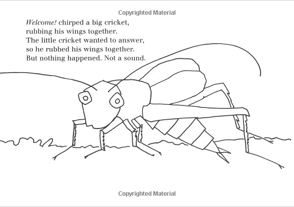 very quiet cricket coloring pages - photo#7