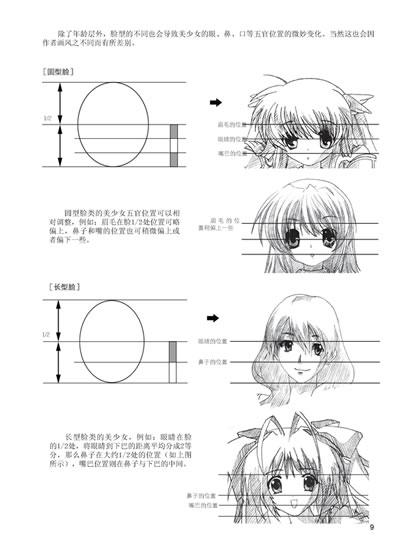 發型設計 教美少女頭發鉛筆畫 > [正版]萌美少女漫畫技法從入  [正版]