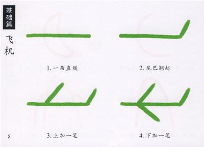 小班简笔画--飞机; 小小孩 儿童学画大全; 【小班简笔画——飞机】